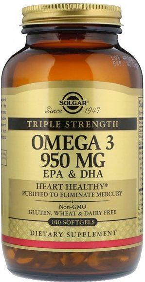 «SOLGAR» Тройная Омега-3950 мг ЭПК и ДГК