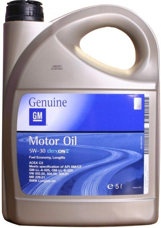 General Motors Dexos2 Longlife 5W30